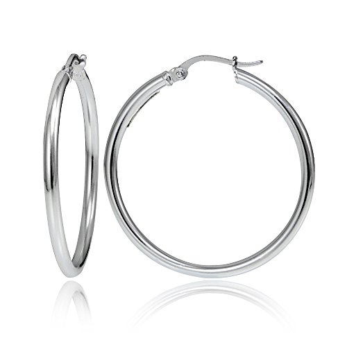 Round Polished Hoop - 4