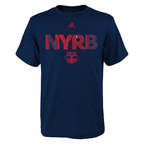 OuterStuff MLS New York Red Bulls Boys -War Paint Logo Short sleeve Tee, New Navy, Large (14-16) Adidas Team Shirts