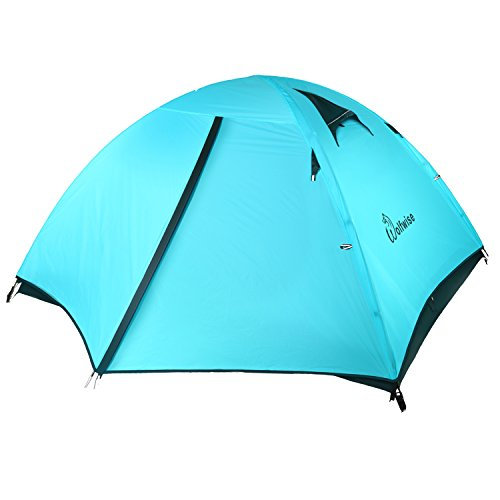 WolfWise 3 Person 4 season Lightweight Backpacking Tent Screen Tent for Camping Hiking Travel (Morning maple 30C-OR 3P)