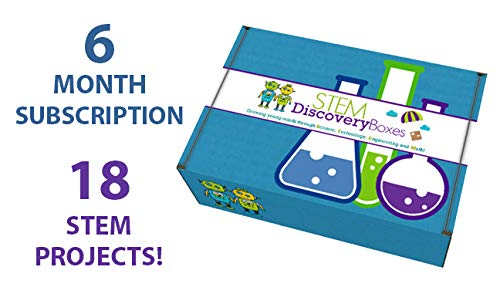 STEM Discovery Boxes - 6 Month Subscription - 18 Projects!