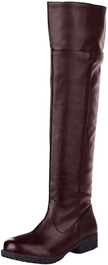 Cos-play Knee-high Boot Riding Boots (womens, black)