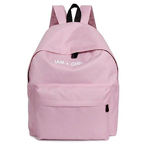 Book Bag School Pink Backpack Backpack Canvas Rcool Girls Rucksack Shoulder Bag Women aqRxS8Uw1