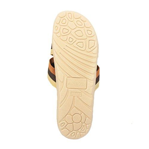 Bestfur Zapatillas De Casa Livianas, Respirables Y Ligeras Para Hombre, De Color Naranja Y Caqui