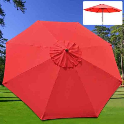 Patio Market Umbrella: 10' Canopy Replacement Red