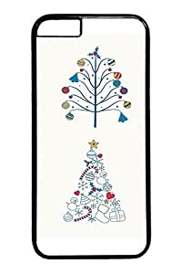 DDJK Case 6 plus Case, iPhone 6 plus Case - Black Hard Back Cover for iPhone 6 Plus Different Christmas Trees Scratch-Resistant Case and Cover for iPhone 6 Plus 5.5 inches