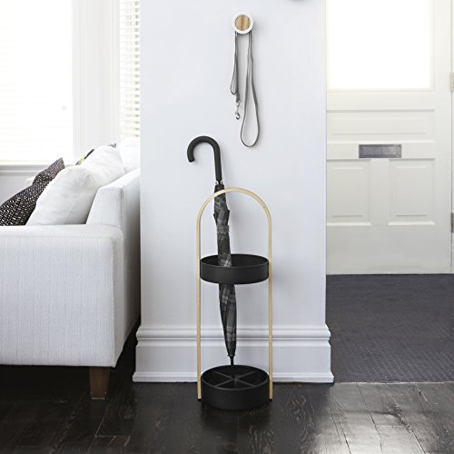 Umbra Hub Umbrella Stand, Space-Saving Umbrella Stand, Great for the Front Door/Entryway, White Natural by Umbra (Image #2)