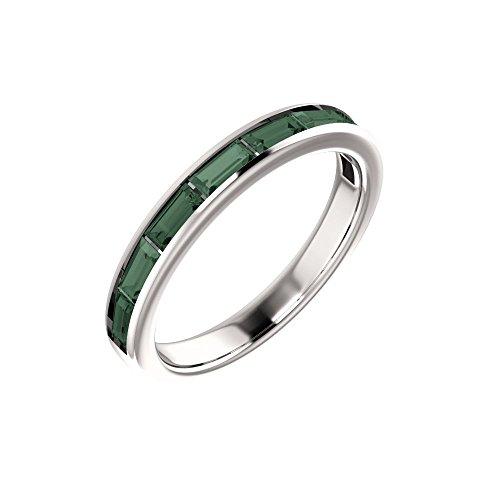 Bonyak Jewelry Lab-Created Alexandrite 14k White Gold Chatham Created Alexandrite Ring - Size - Chatham Gold Ring Alexandrite