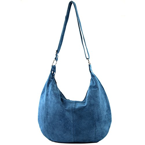 femme italien à véritable sac main Jeansblau Sac cuir en bandoulière cabas sac T02 à qS0nAFw