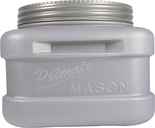 Petmate Mason Jar Inspired Pet Food Storage Container Up To