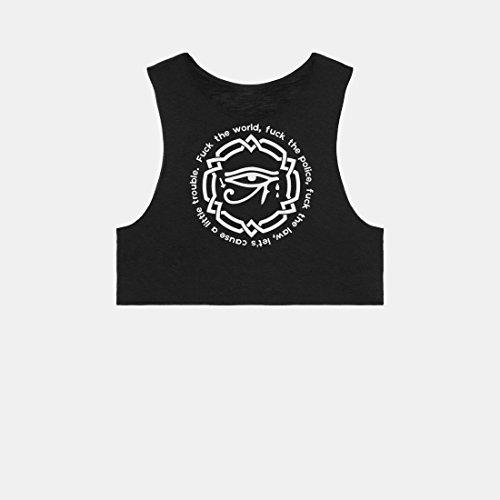 D. Franklin Eye, Camiseta sin Mangas para Mujer Negro