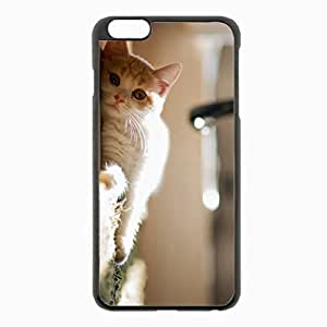 iPhone 6 Plus Black Hardshell Case 5.5inch - mat curious Desin Images Protector Back Cover
