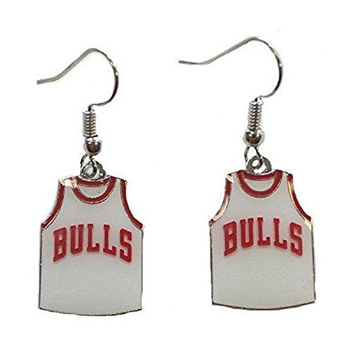 NBA Chicago Bulls Jersey Dangler Earrings