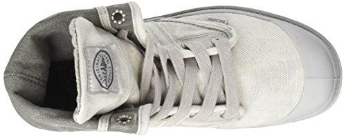 Palladium Us Baggy, Sneaker a Collo Alto Unisex – Adulto Grigio (Vapor/ Metal)