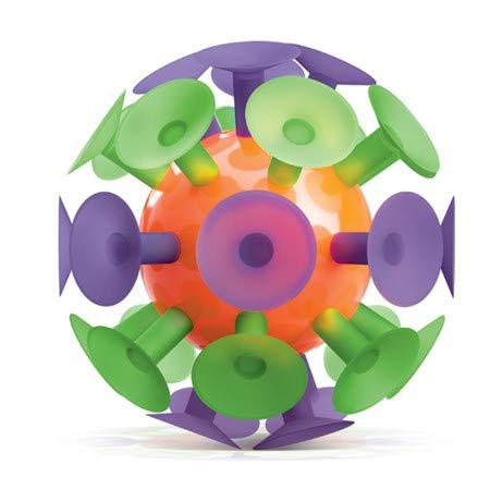 Play Visions Giant Suction Cup Ball, Kids Toy - Throw It and Watch It Stick - 5 Inch Ball Surrounded by Strong Suction Cups