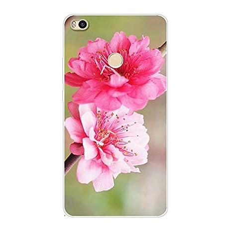 Aksuo Funda for Xiaomi Mi MAX 2 Serie de Flores ...