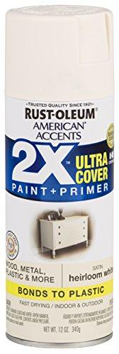 Rust-Oleum 327920-6 PK American Accents Spray Paint, Satin Heirloom White (Paint Antique White Spray)