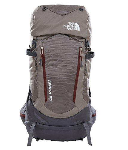 The North Face Terra 50 Hiking Backpack (Falcon Brown Sequoia Red 44e6930a41fd