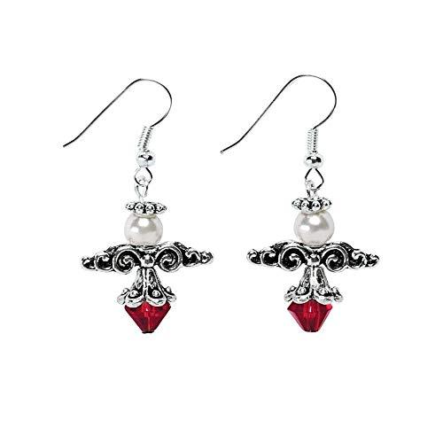 Silvertone Beaded Angel Earring Craft Kit - Jewelry by Fun Express