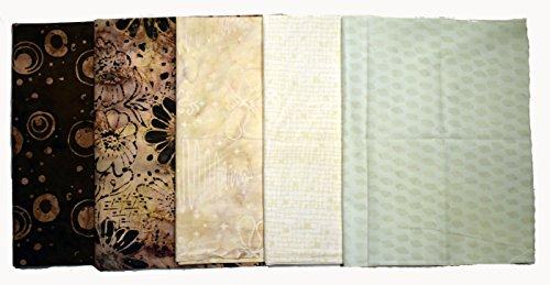 (Bali Batiks Premium Batik Half Yard Cuts Pack of 5 (2.5 Yards Total))