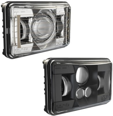 (552571 - JW Speaker Model 8800 Evolution Headlight - 0552571 - With Bulb(s) Sealed beam LED, Clear Lens; Black Interior, DOT/SAE Compliant, Sold)
