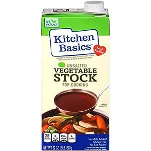Kitchen Basics Unsalted Vegetable Stock, 32 fl oz (Pack of 12)