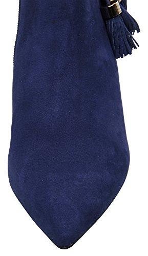 Carrano Loren Nubuck Cuero Tassel-tie Botaie Azul