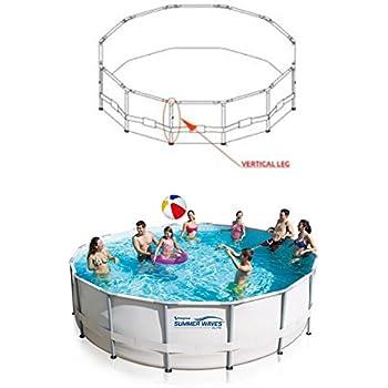 "Summer Waves Elite 37/"" Leg W// Foot /& Pin  42/"" 3 1//2/' x 14/' Swimming Pool 2/"" Oval"