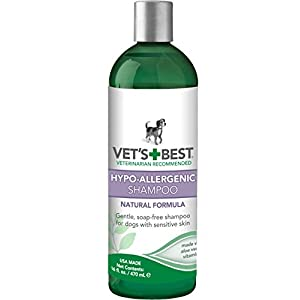 Vet's Best Hypo-Allergenic Dog Shampoo for Sensitive Skin, 16 oz