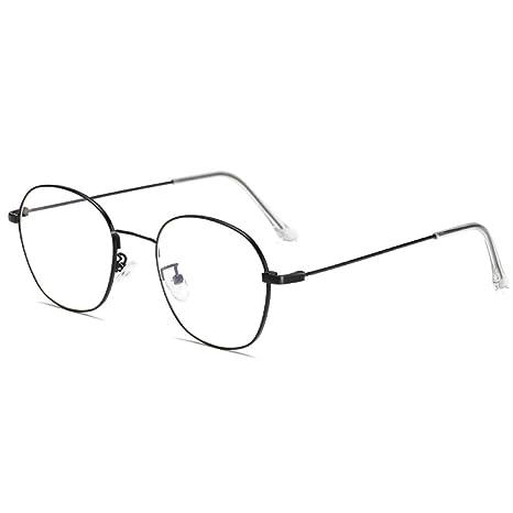 Yangjing-hl Gafas de Montura, Cara Redonda, miopía, Grado, Montura ...