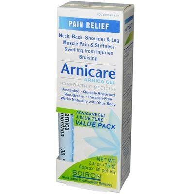 Boiron Labs Arnica Gel and Blue Tube - Value Pack, 2.5 Ounce - 3 per case.