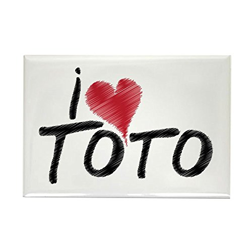 Toto Rectangle Magnet (CafePress I Love Toto (Wizard Of Oz) Rectangle Magnet, 2