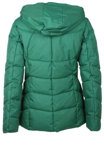 Sublevel Winter quilted jacket with hood Middle Green