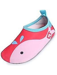 SUADEX Unisex Kids Water Shoes Boys Barefoot Aqua Socks Girls Skin Shoes for Dive Surf Swim Beach Pool Yoga