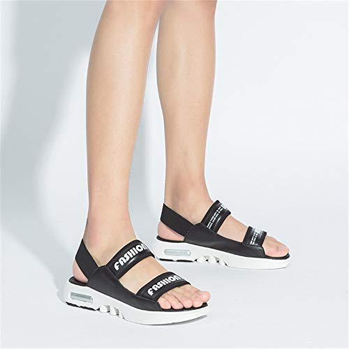 Playa Color tamaño De Negro para Sandalias Zapatillas Negro Wangcui para Sandal Hombre 42 Libre Deportes Aire Negras Transpirables EU Al S6BwAEqx