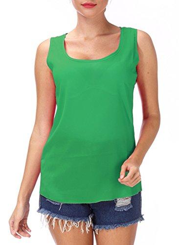 乳製品相続人一過性キャミソール ベスト トップス シフォンシャツ ノースリーブ タンクトップ レディース 無地 通勤 カジュアル 夏 薄手 フィットネス ランニングシャツ
