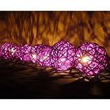 NAVA CHIANGMAI Purple Rattan Ball Patio Party String - Best Reviews Guide