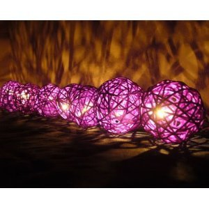 Saddle Reclining Sectional (NAVA CHIANGMAI Purple Rattan Ball Patio Party String Lights (20/set) Product of Thailand)