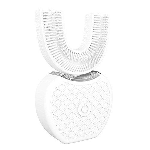 罹患率私たち自身ホップ【Cheng-store】自動周波数超音波電動歯ブラシ360° 怠惰な歯ブラシ白い歯の器具 自動ハンズフリー白色発光 ブラシヘッドをU字型4選択可能なモード
