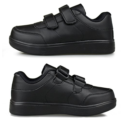 Hawkwell Kids School Uniform Sport Shoes(Toddler/Little Kid),Black PU,11 M US by Hawkwell (Image #4)