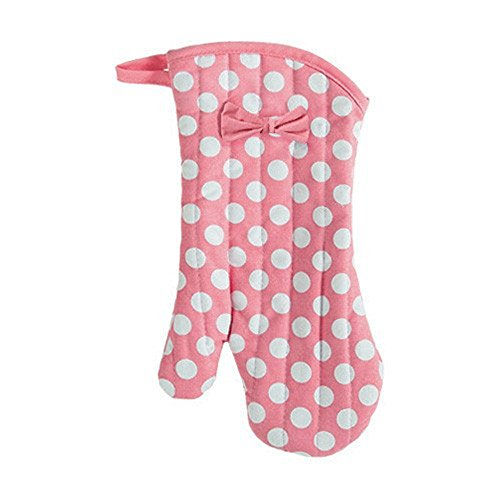 Jessie Steele Geranium Pink and White Polka Dot Oven Mitt with ()