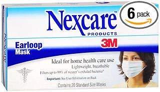 Nexcare Earloop Masks - 20ct, Pack of 6 by Nexcare
