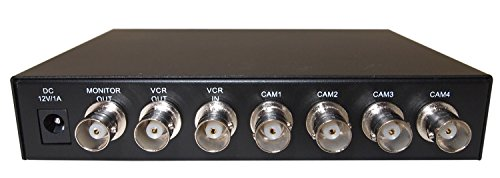 Evertech Office Home Analog Video Security Camera Cctv Color Quad Splitter Processor 4 Channel/Port (4 Camera) Real Time with REMOTE Controll by Evertech (Image #5)