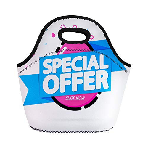 Semtomn Lunch Bags April Promo Special Offer Easter Sale Tag Discount Weekend Neoprene Lunch Bag Lunchbox Tote Bag Portable Picnic Bag Cooler Bag