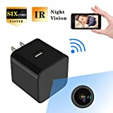 HD 1080P Hidden Spy Camera USB Wall Charger Mini WIFI Home Security Wireless Nanny Baby Pet Cam with IR Night Vision Motion Detection