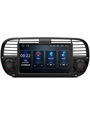 XTRONS Single Din Car Stereo Android 10 Car Radio Player 7 Inch Touch Screen GPS Navigation 1 Din Bluetooth Head Unit Built-in DSP Car Auto Play Support Full RCA Backup Camera OBD2 DVR for Fiat 500