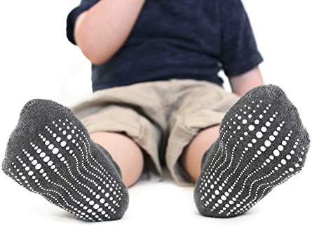 LA Active Grip Ankle Socks - Cozy Warm Socks - Baby Toddler Infant Newborn Kids Boys Girls Non Slip/Anti Skid