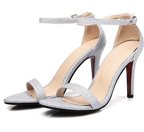 XDGG 41 not High Shoes Sandals Size And custom Toe Bride Size Women Summer Large do 4 Open Heels 2 Single silver Small Stiletto Heel return Spring Shoes days x0RFO0Zqwr
