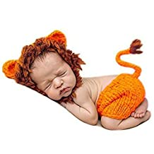 Aidoxi Newborn Baby Photo Photography Prop Handmade Crochet Knitted Cute Lion Cap Outfit Style 8)