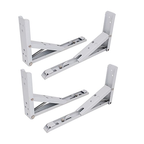25cm long spring loaded right angle folding shelf bracket. Black Bedroom Furniture Sets. Home Design Ideas