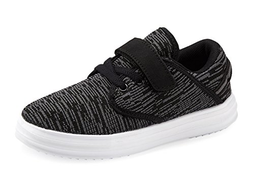 Casbeam Toddler Kid's Lightweight Sneakers Boys and Girls Cute Casual Running Shoes Black 33 -